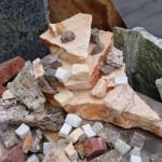 Échantillons de marbre, granit et travertin