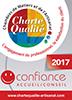 Atelier de mosaïque Mosaïc Concept : attribution du Logo charte qualité : confiance accueil Conseil de la Chambre des métiers et de l'artisanat 92