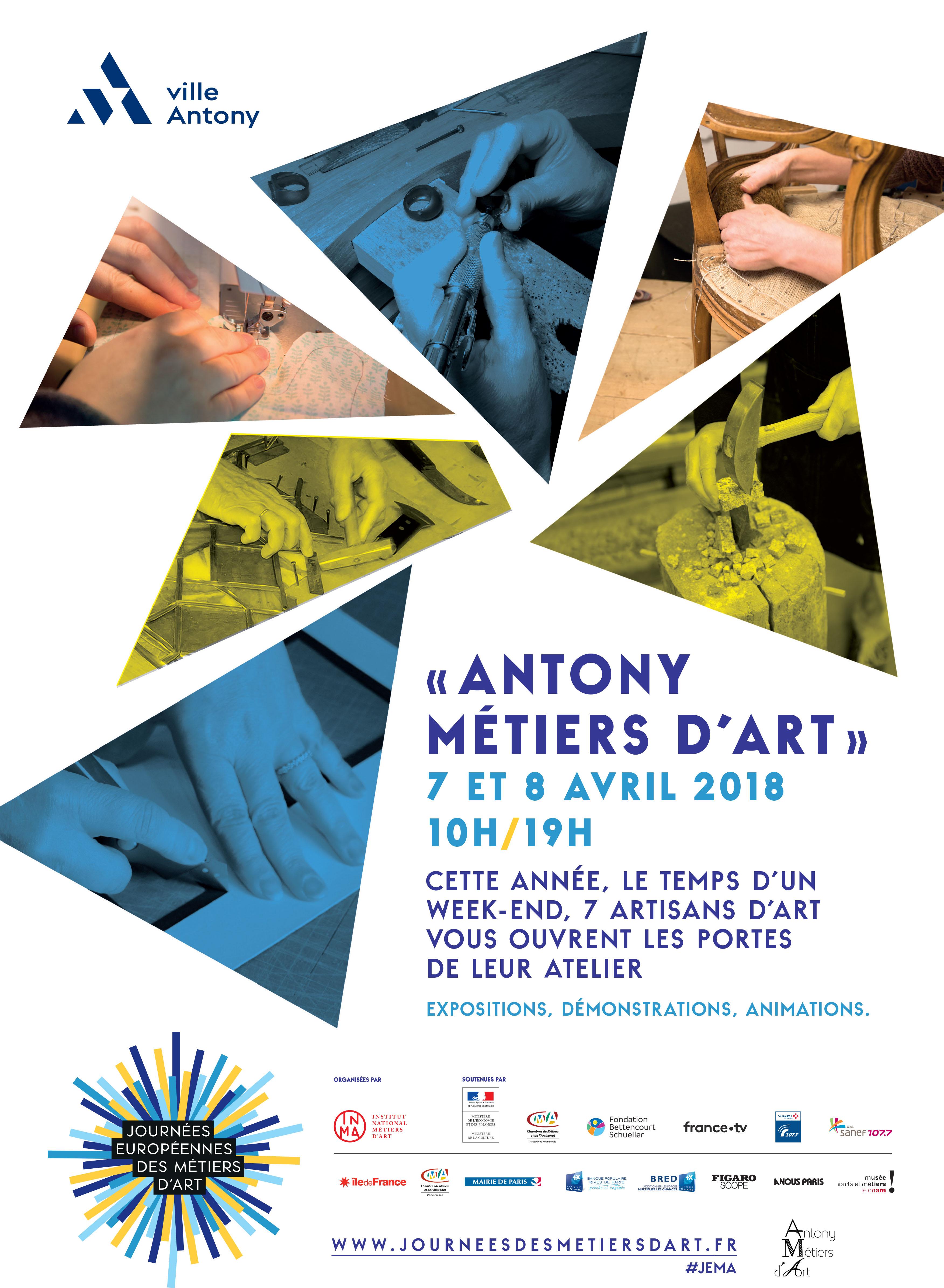 Journées Européennes des Métiers d'art les 7 et 8 avril 2018