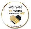 Logo du Label Artisan du Tourisme 2020 décerné par la Chambre des Métiers et de l'Artisanat 92 et le Conseil Général des Hauts de Seine